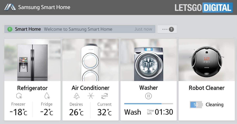 samsung smart home appliance products letsgodigital. Black Bedroom Furniture Sets. Home Design Ideas