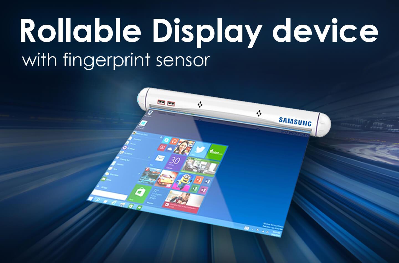 samsung rollable display device with fingerprint sensor