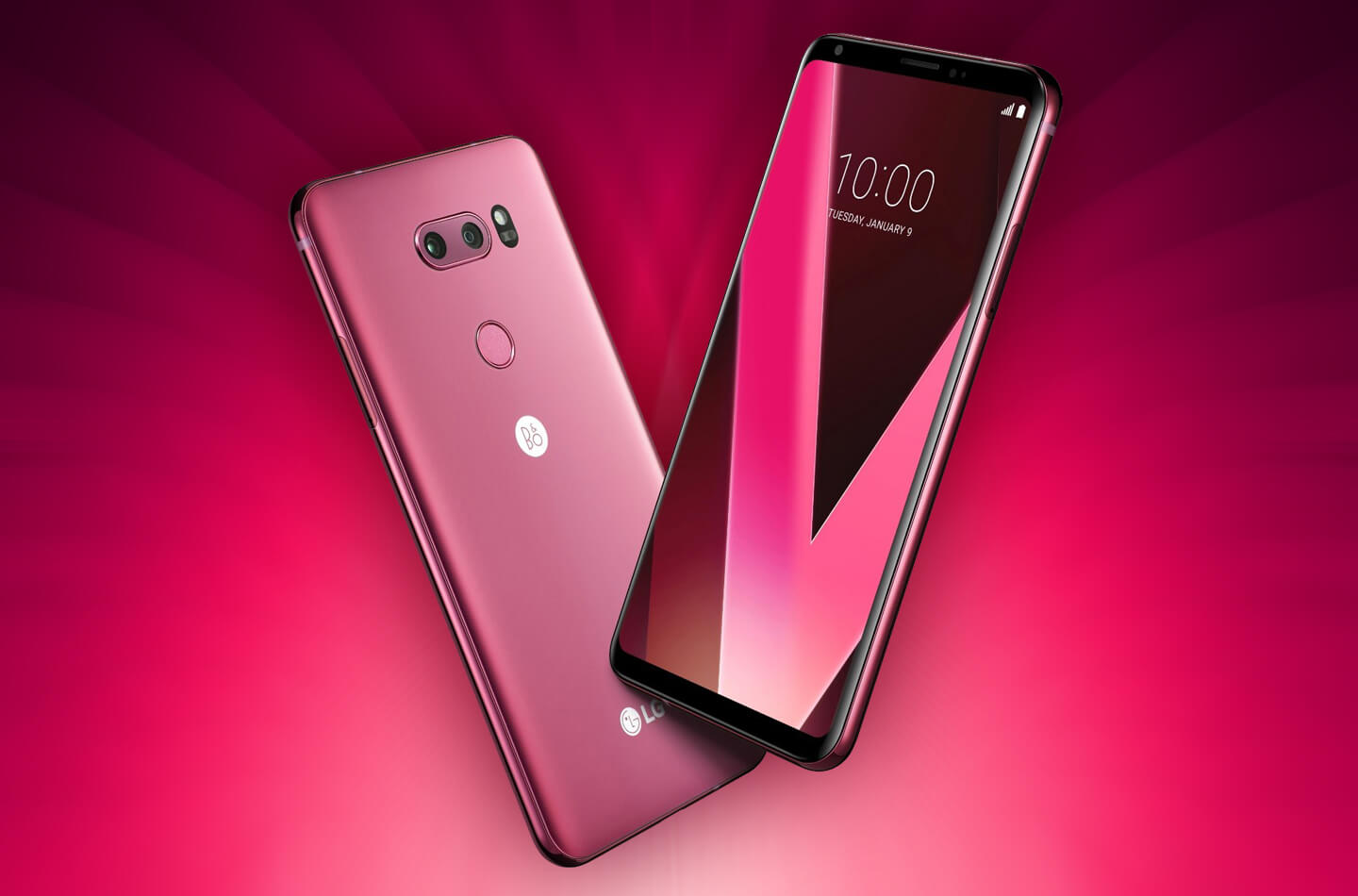 lg v30 raspberry rose showcased at 2018 ces letsgodigital. Black Bedroom Furniture Sets. Home Design Ideas