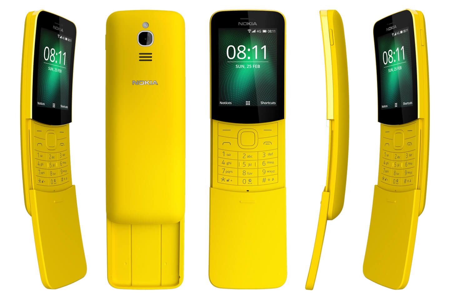 nokia 8110 4g unveiled at mobile world congress 2018