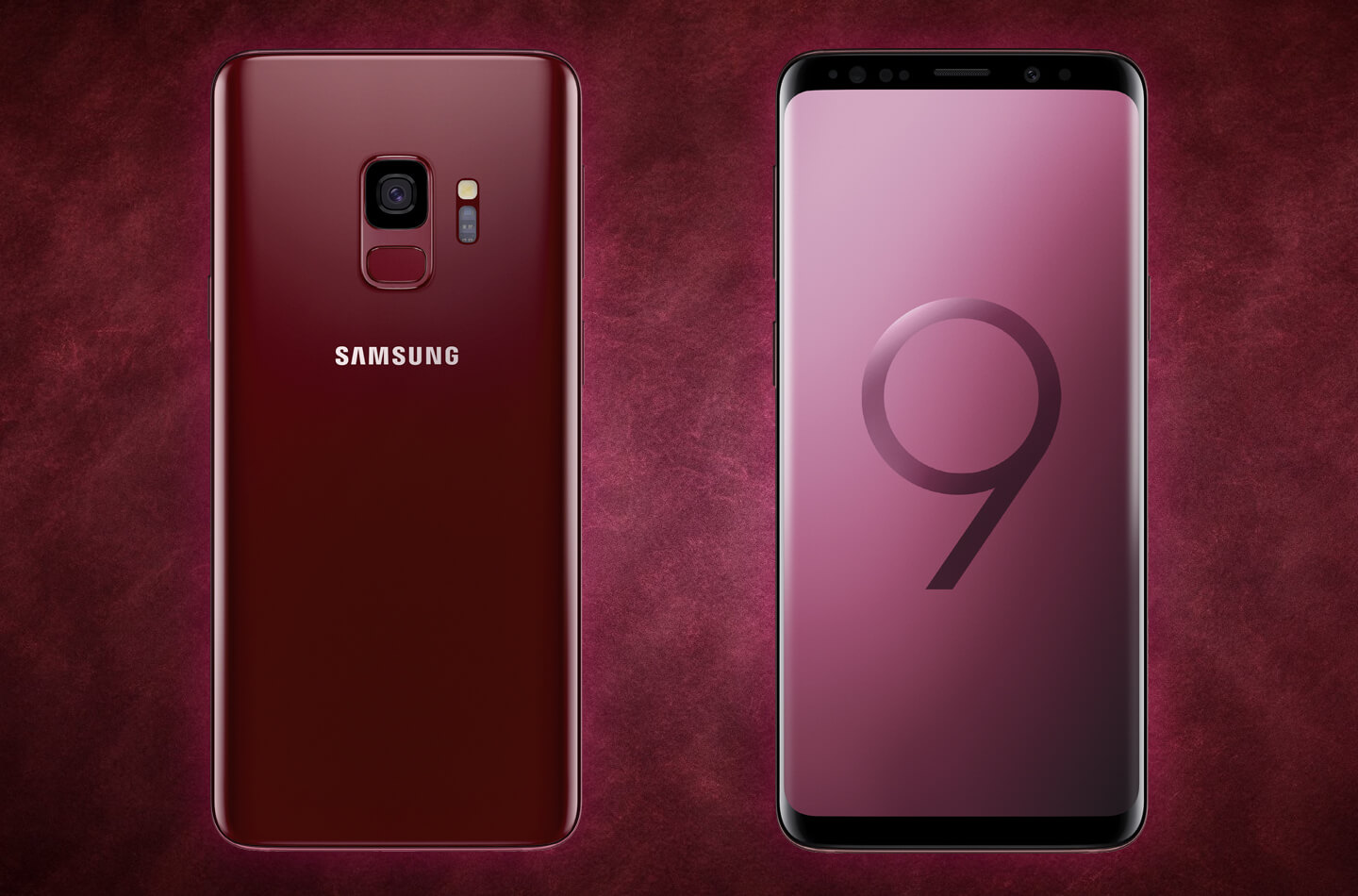 samsung galaxy s9 sunrise gold and burgundy red editions. Black Bedroom Furniture Sets. Home Design Ideas