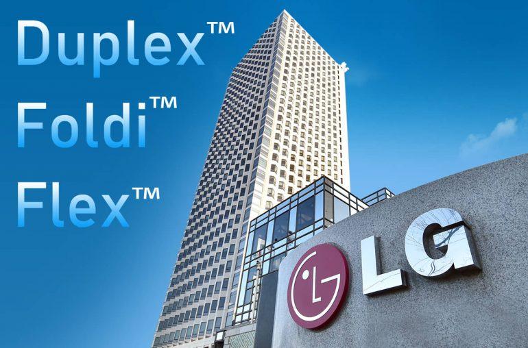 LG foldable smartphones