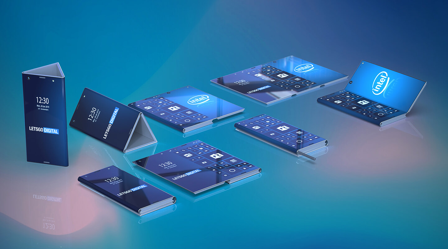 Foldable smartphone Intel