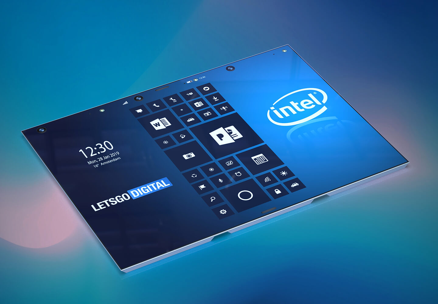 Intel foldable tablet