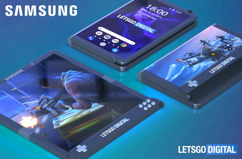Samsung gaming smartphone foldable display