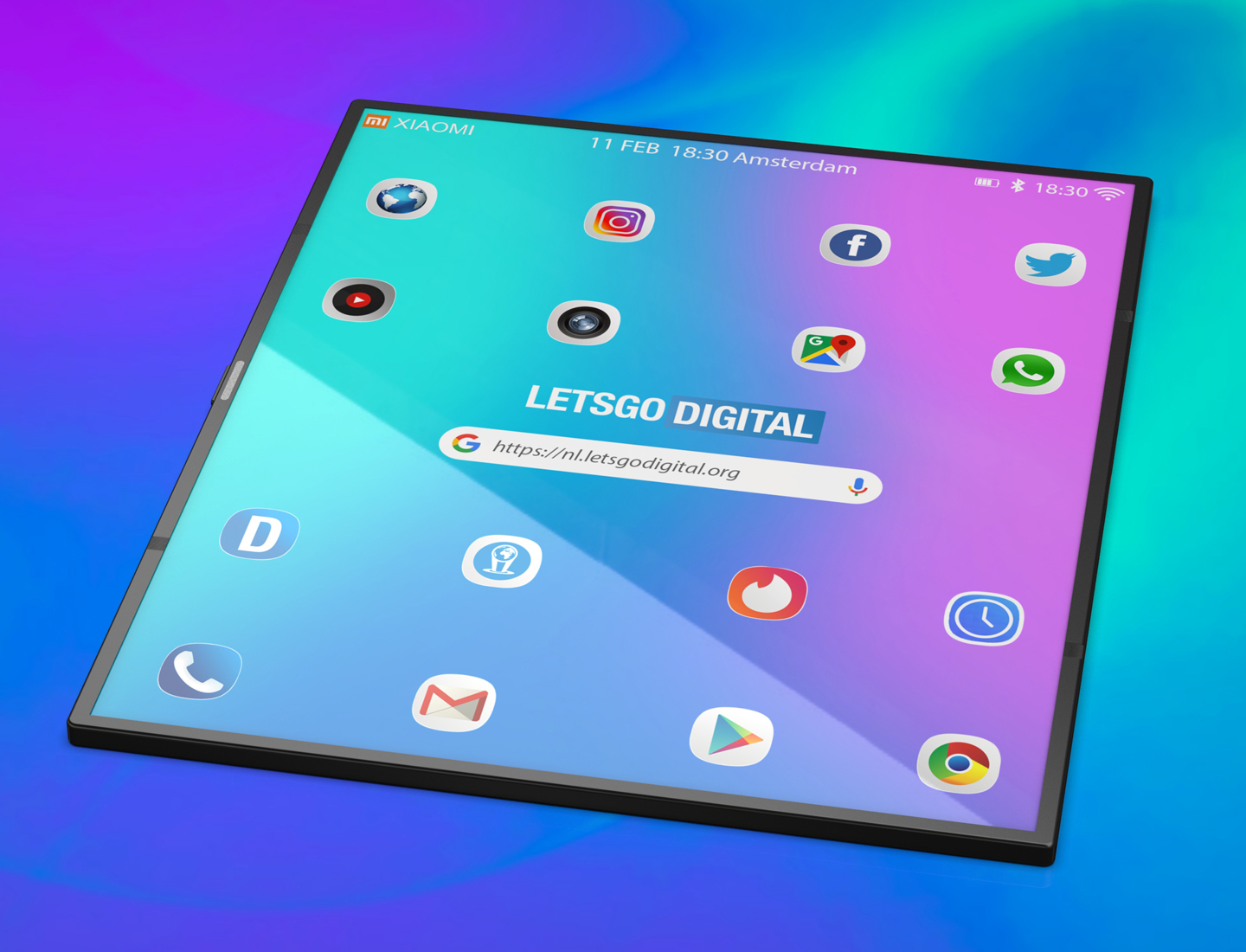 Foldable tablet device