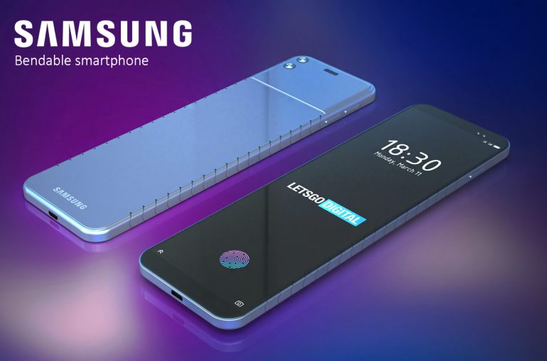 Samsung bendable smartphone