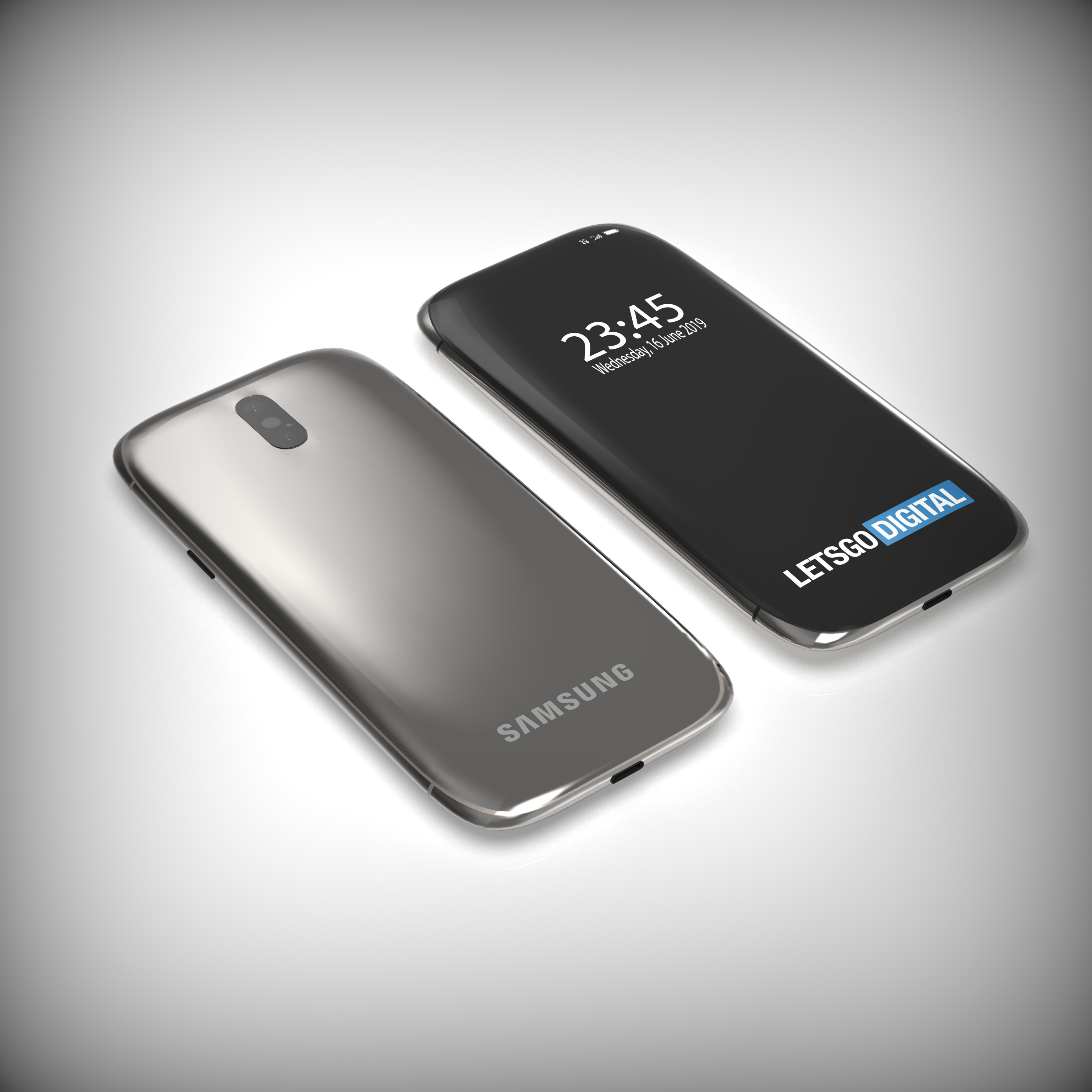 Samsung Galaxy S11 smartphone with 3D curved display