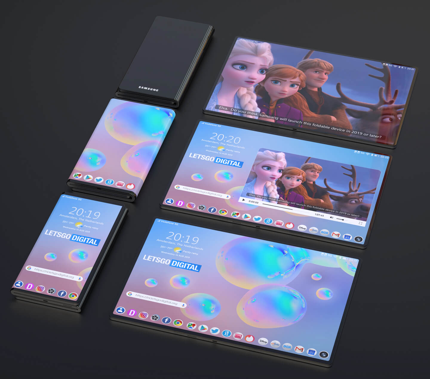 Galaxy foldable phones