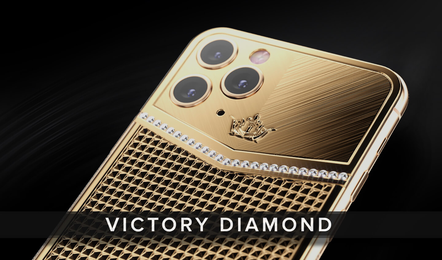 iPhone with diamonds