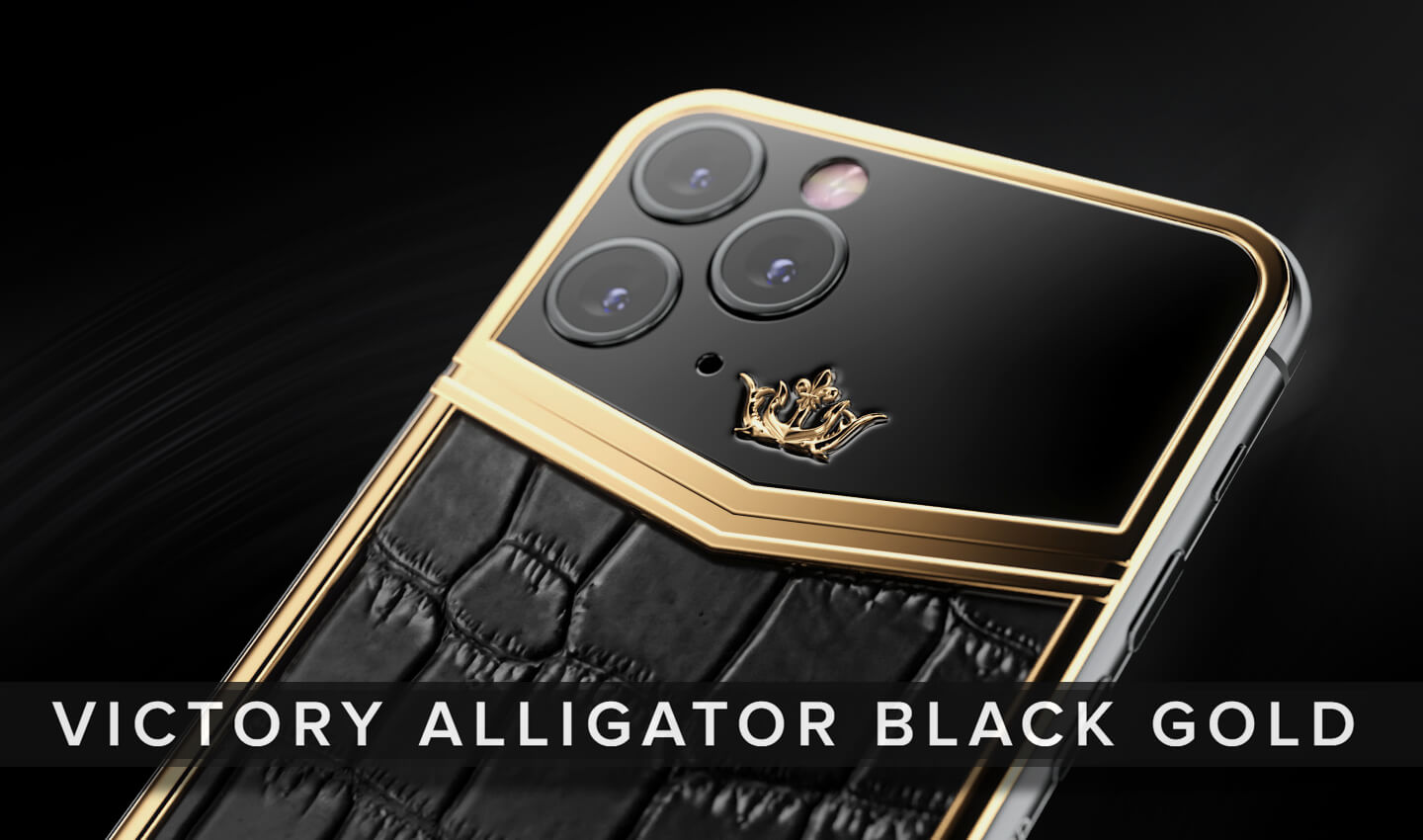 Smartphone with gold accents