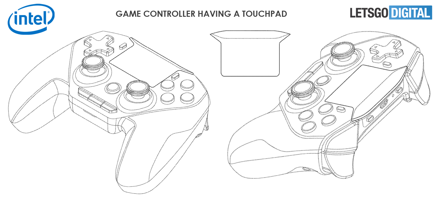 Intel game contoller touchpad
