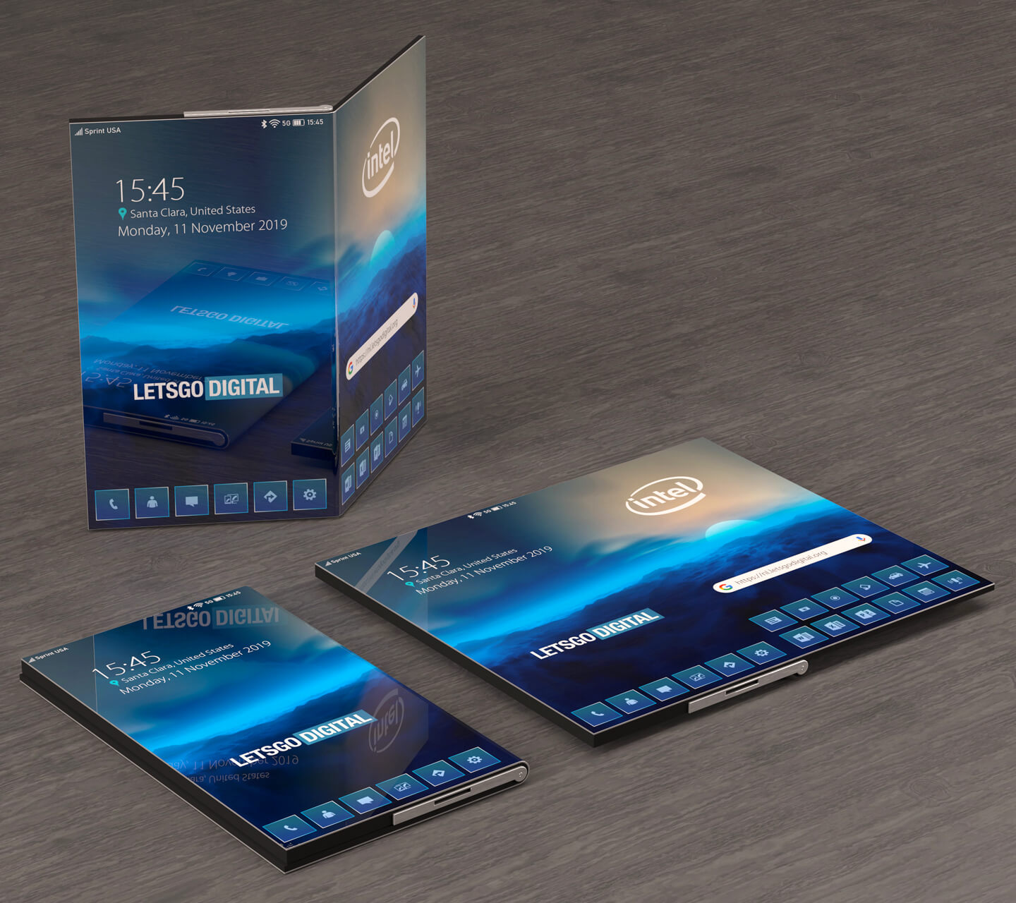 Intel foldable phone