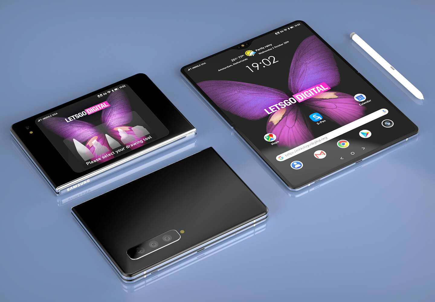 Samsung foldable smartphone S-Pen