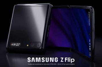 Samsung Z Flip foldable smartphone