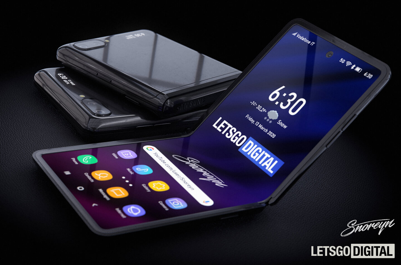 Samsung Z Flip Galaxy smartphone