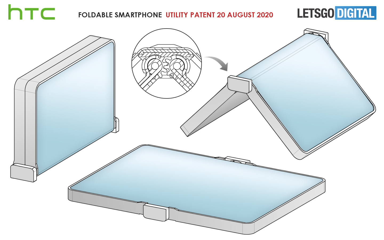 Foldable smartphone outward folding display