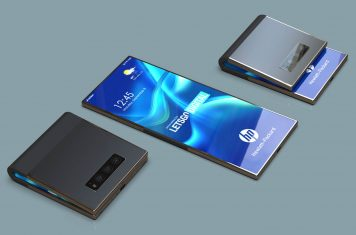 HP foldable smartphone