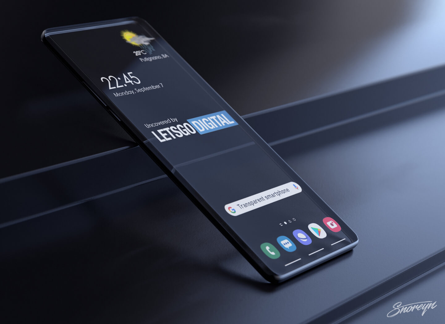 Smartphone with transparent display