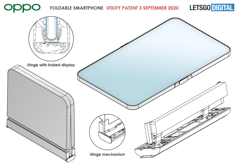 Oppo foldable phone inward folding display