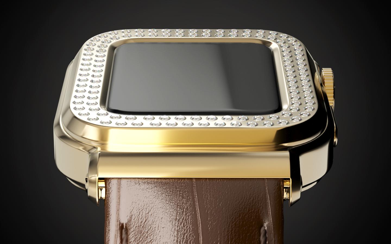Apple Watch 6 Gold Diamonds