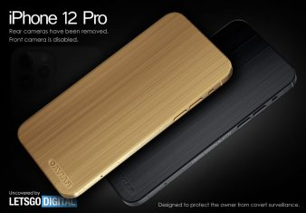 iPhone 12 Pro without cameras