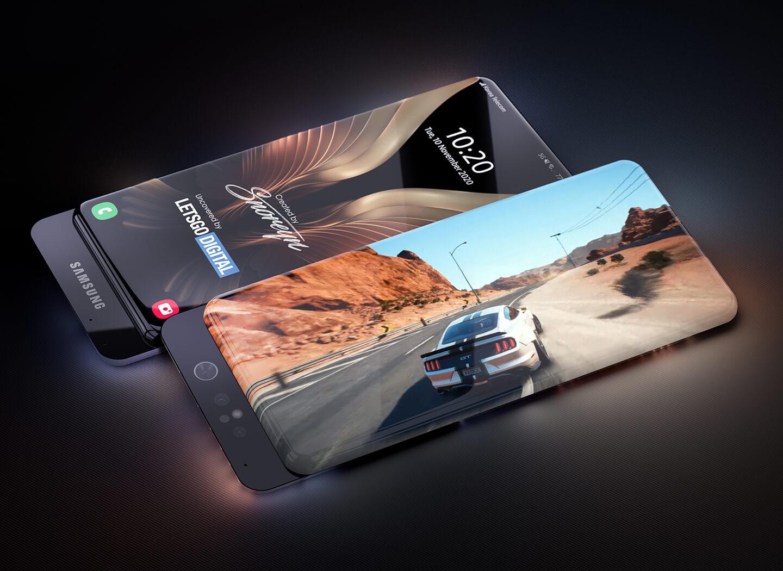 Samsung smartphone sliding camera