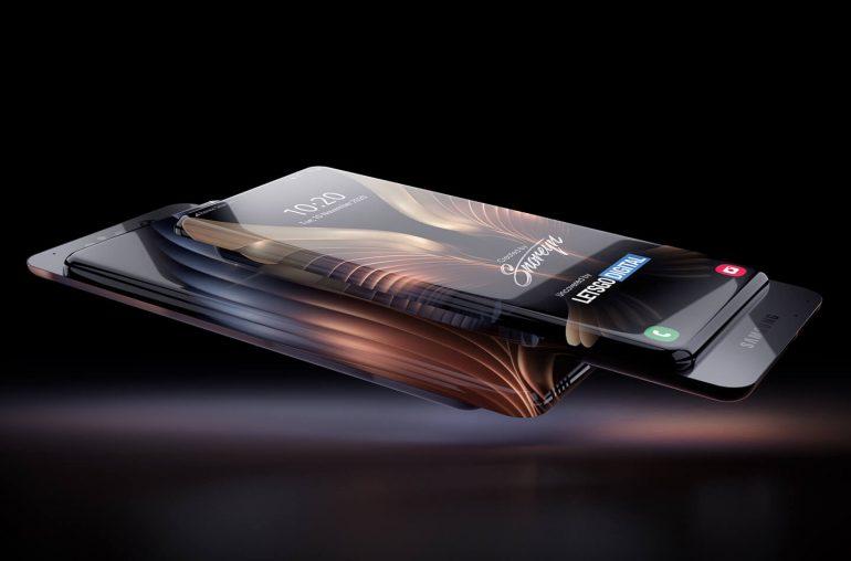 Samsung smartphone surround display sliding camera