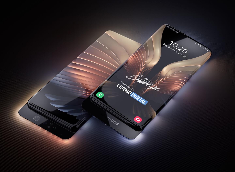 Samsung smartphone transparent housing