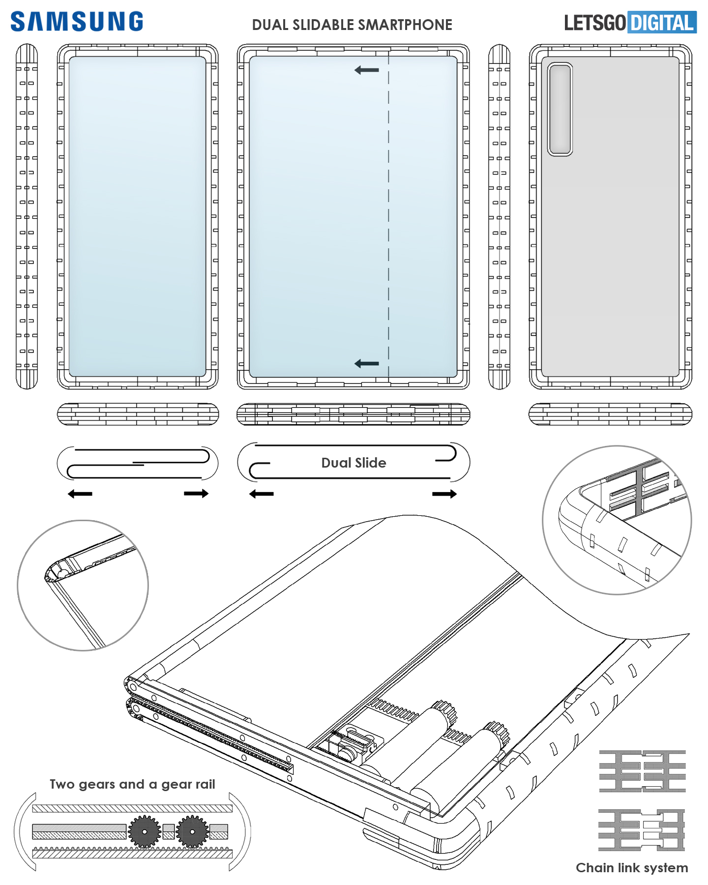Pantalla enrollable para smartphone Samsung Slide