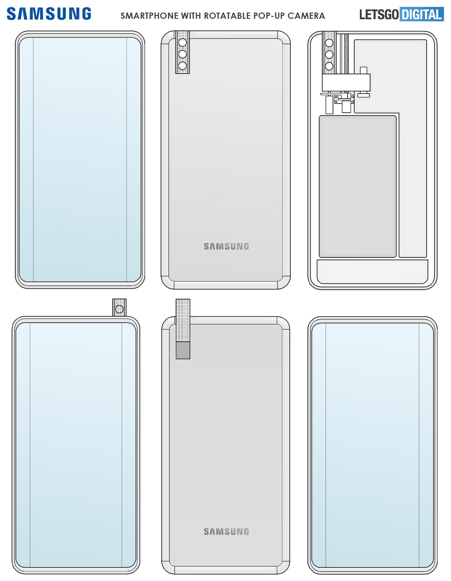 Cámara emergente giratoria para smartphone Samsung