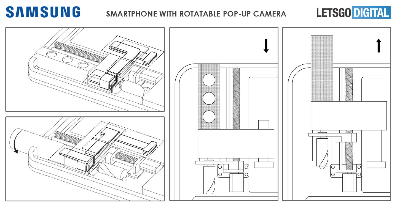 Smartphone con cámara selfie emergente